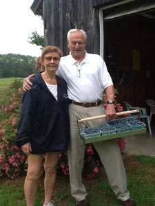 First Blueberry Pickers of 2013 Season